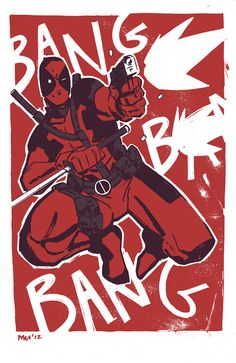 Michael Walsh - Deadpool Print for NYCC