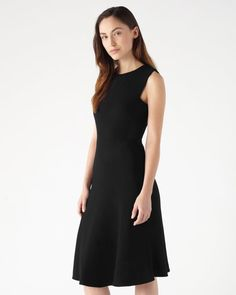 0e10c24cb4fe9 Simply chic midi-dress flawlessly cut from wool and viscose. Fit and flare  shape