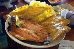 Trucha al carbón en el Valle de Cocora, Quindio. Con un plátano increible... Turkey, Meat, Food, Trout, Turkey Country, Essen, Meals, Yemek, Eten