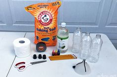 For July, we wanted to go BIG and celebrate Independence Day in a loud, booming kind of way with some baking soda rockets for kids! These vinegar baking soda rockets are a great STEM project.