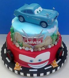 LaBu Somoa Cake, Mcqueen Cake, Birthday Cake, Desserts, Cakes, Food, Tailgate Desserts, Deserts, Cake Makers