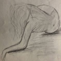 #art #sketch #skething #15min #nude #drawing #draw #обнаженка #наброски Модель Люба