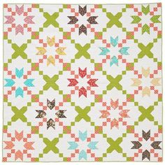 A full picture of my Star Crossed quilt featured in the April 2016 issue of American Patchwork & Quilting.  Fabrics used are #prairiefabric #showmethemoda #modafabrics @modafabrics  If you make this quilt or use any of my patterns or use my fabric, be sure to tag them #corianderquilts I'd love to see your projects! Used with permission from American Patchwork & Quilting® magazine. ©2016 Meredith Corporation. All rights reserved.