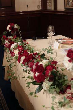 秋の装花 花嫁の誕生の瞬間 シェ松尾青山サロン様へ : 一会 ウエディングの花