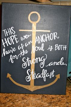 Hebrews 6:19 Canvas by MyCalligraphyHeART on Etsy