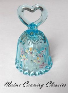 Hand Painted Fenton Bell Blue