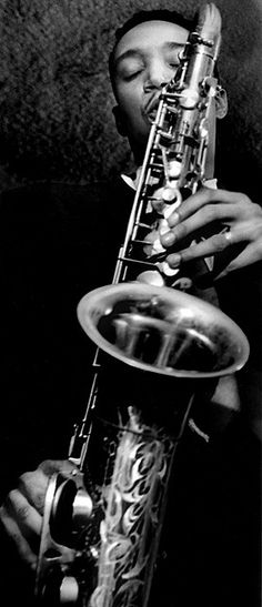 ♫♪ Music ♪♫ musician Black & white Jazz Wardell Gray, The Tiffany Club, Los Angeles, 1950