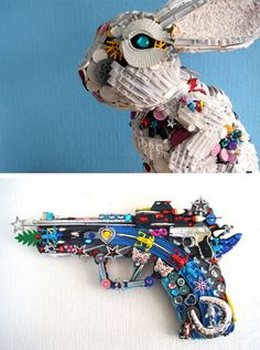 Robert Bradford - Recycled Toy Sculptures