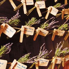 everyone found their seats via escort cards pinned to twine and sprigs of lavender (IN Photography)