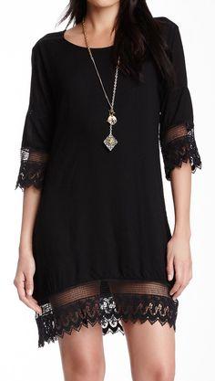 Lace trim dress