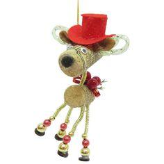 Brighten the Season Florida Bealls Cork Cowboy Deer Ornament Wine Cork Ornaments, Deer Ornament, Holiday Crafts, Holiday Decor, Pink Beach, Christmas Decorations, Christmas Ornaments, Tree Toppers, Bow Ties