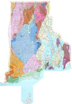 Geologic Maps Of The 50 United States Rhode Island Geologic Map