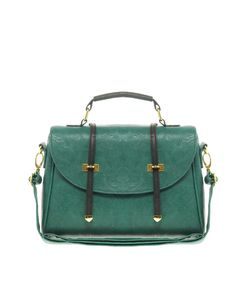 Not sure if it would be big enough but it sure is pretty!  $47.68 ASOS Metal Tip Satchel Teal :
