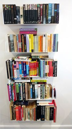 The TEEbooks Bookcasefit for any place in the house. Made from durable steel, this bookshelf highlights capacious shelves for displaying your beloved books, art and collectables. Sleek and modern materials make this item easy to associate in with any style of decor, whether in your bedroom, living room or home office.   Credits: Nick Mason Contemporary Shelving, Floating Bookshelves, Beloved Book, Vertical Or Horizontal, Modern Materials, Wall Shelves, Space Saving, Storage Spaces, Highlights