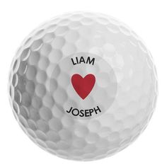 Personalised Golf Ball - Heart Gifts For Sports Fans, Golf Ball, Little Gifts, Heart, Goodies, Sweet Like Candy, Gummi Candy, Stocking Stuffers, Hearts