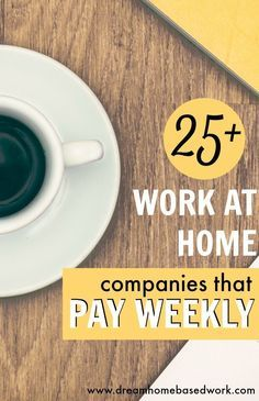 If you are looking for work at home jobs that pay weekly or more often then take a look at 25 companies that do! If you are looking for work at home jobs that pay weekly or more often then take a look at 25 companies that do! Work From Home Moms, Make Money From Home, Way To Make Money, How To Make, Earn Money Online, Online Jobs, Online Income, Work From Home Companies, Home Based Jobs