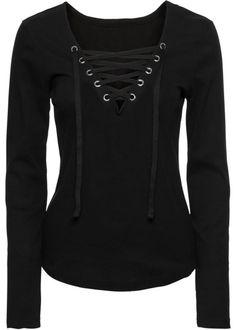 Shirt, RAINBOW, black longsleeve shirt