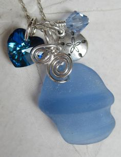 Seaglass Necklaces - love seaglass from the beaches in Wales Seashell Jewelry, Nautical Jewelry, Beach Jewelry, Seashell Crafts, Beach Crafts, Sea Glass Crafts, Sea Glass Art, Sea Glass Necklace, Sea Glass Jewelry