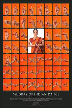 Hand Mudras of Indian Classical Dance. Mudras tell a story.and they are also used in healing meditations similar to reflexology. Folk Dance, Dance Art, Kathak Dance, Hand Mudras, Indian Classical Dance, Tribal Belly Dance, Dance Quotes, Tribal Fusion, Belly Dancers