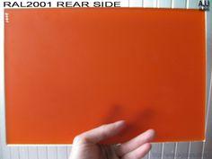 silkscreen printing glass with color of RAL 2001, bear side.