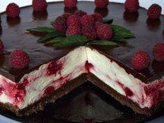 Cheesecake rece cu ciocolata si zmeura - CAIETUL CU RETETE Mousse, Cookie Recipes, Biscuits, Berries, Cheesecake, Deserts, Strawberry, Food And Drink, Ice Cream