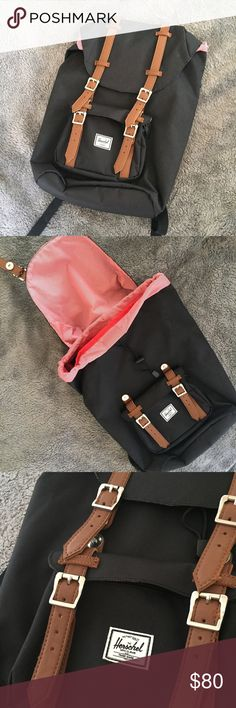 "NWOT Herschel Supply Co Little America Backpack Herschel Supply Co Little America Backpack in like new condition. 14.5"" shoulder drop with adjustable shoulder straps, 20"" high, 12"", built-in 15"" laptop sleeve. No trades. Herschel Supply Company Bags Backpacks"