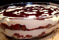 Feketeerdő rakott piskóta Hungarian Recipes, Russian Recipes, Czech Recipes, Just Eat It, Pinterest Recipes, Summer Desserts, Cakes And More, Trifle, Love Food