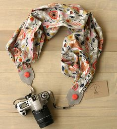 Lion Scarf Camera Strap by Bluebird Chic on Scoutmob