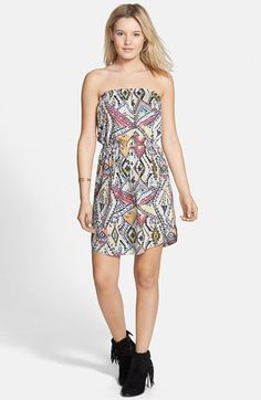 Billabong 'Simply Sea' Print Strapless Dress available at #Nordstrom