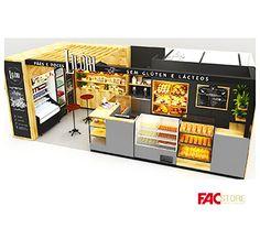 Cafe Interior Design, Cafe Design, Kiosk Design, Retail Design, Cafe Restaurant, Restaurant Design, Cocktail Bar Design, Waffle Shop, Tiny Mobile House