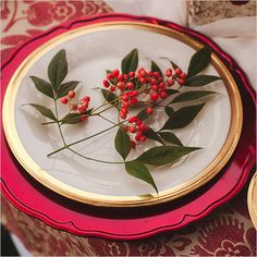 simple holiday table setting ideas