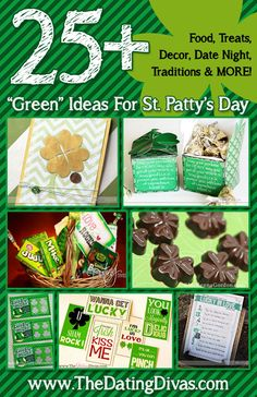 Amazing St. Patrick's Day ideas WITH pictures. My fav! www.TheDatingDivas.com