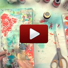 Behind the Art how-to video by mixed-media master Christy Tomlinson stampington.com/...