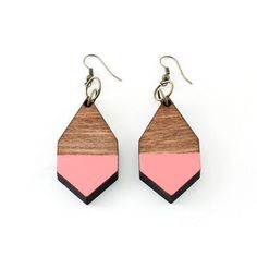DIAMANTE earrings pink By MOIMOI
