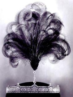 Cartier Belle Epoque aigrette tiara, c. 1913