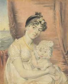 Sarah Anne King and her child, Richard Duckworth King d. Little Boy And Girl, Little Boys, Boy Or Girl, Miniature Portraits, Children And Family, Mother And Child, Jane Austen, Georgian, Genealogy