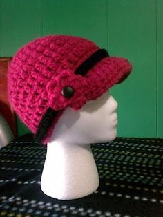 Just Stitched  Beanie with Bill - Free crochet pattern in sizes  Small (Baby  Toddler) ecc318d98d7