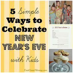 5 Ways to Celebrate New Year's Eve With Kids from East Coast Mommy