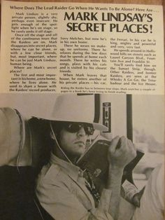 Paul Revere and the Raiders, Mark Lindsay, Full Page Vintage Clipping