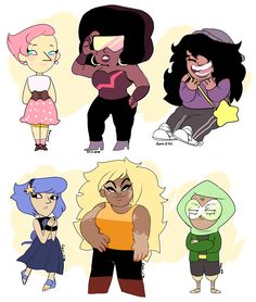 Human gems by zamii070.deviantart.com on @DeviantArt.          Do not trash on her work gems do not have specific races so leave this girl alone.