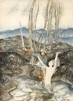 1919 Arthur Rackham (English painter/illustrator, 1867-1939) for Some British Ballads ~ 'Clerk Colvill'