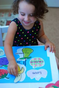 Fruit of the Spirit toddler/preschool activities.  A lot of great ideas here.  Love the Runts!