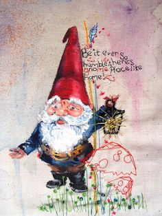 "mimilove forever --- Homey Gnomey ""Be it ever so humble, there's no place like gnome! Troll, Norway Christmas, Collages, Elves And Fairies, Love Fairy, Fairytale Art, Scandinavian Christmas, Leprechaun, Fantasy World"