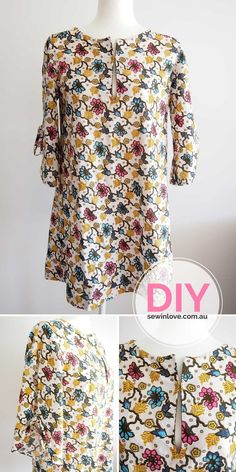 "DIY Tunic Dress | This is from the popular Japanese sewing pattern book, Stylish Dress Book 1. I've made the front slit a little longer than the original design so I can breastfeed!  Use ""PINTEREST15"" for 15% off my ebooks."