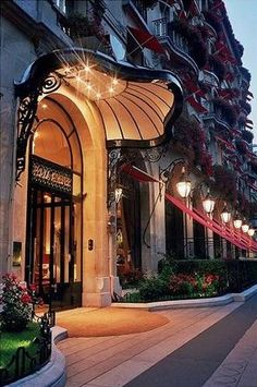 Hotel Plaza Athenee Paris-- one day when I'm famous I will stay here! Love being able to say I seen it though :)!!