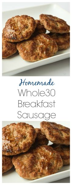 Whole30 Breakfast Sausage (Whole30 Paleo Keto) - clean eating is simple with this easy homemade breakfast sausage recipe. Great for freezing too! | tastythin.com
