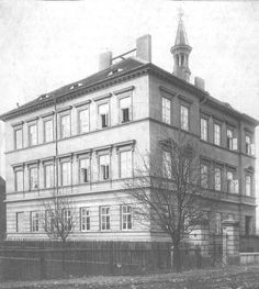 Sirotčinec -  dům stojí ve Školní ulici  z roku 1906 Louvre, Street View, Building, Travel, Viajes, Buildings, Destinations, Traveling, Trips
