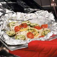 Flounder Zucchini Bundles Recipe