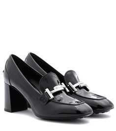TOD'S Loafer-style leather pumps. #tods #shoes #pumps