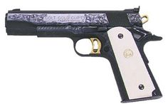 History - Engraved Colt Gold Cup National Match 1911 Pistol